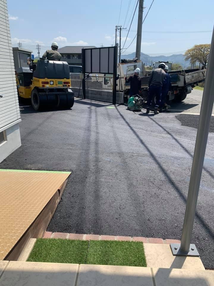 舗装工事完了